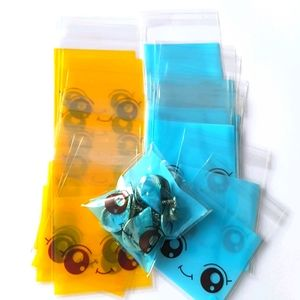 """NEW 25 Smiley Clear Bags Threat Bags 2.75""""x2.75""""in"""